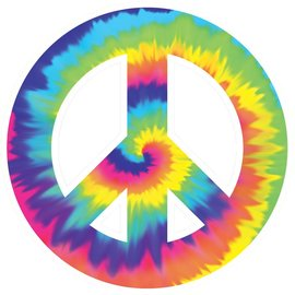 Cutout- Peace Sign- Classic 60's Groovy-10.5''