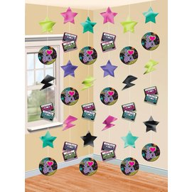 Danglers-String Decor -  Totally 80's-6pk/7'