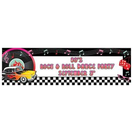 Banner- Personalize It- 50's Rock-65'' x 20''