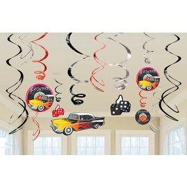 Danglers- Swirl-50's Rock -6pk/7''