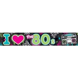 Banner-  I Love The 80's-25ft