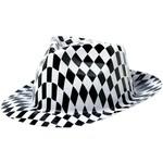 Hats-Fedora-Checkered -Classic 50's-Plastic