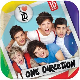 Plates-Bev-One Direction-8pk-Paper- Discontinued