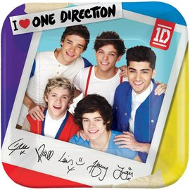Plates-LN-One Direction-8pk-Paper- Discontinued