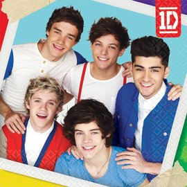 Napkins-Bev-One Direction-16pk-2ply- Discontinued