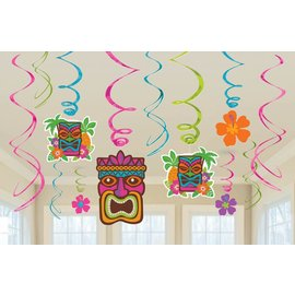 Swirl Decor- Tiki Party -Summer Luau-12pk