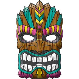 Mask-Vacuform-Summer Luau-11'' x 9''