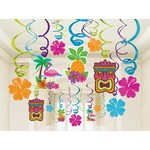 Danglers-Swirl- Tiki Party -Summer Luau-30pk
