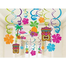 Danglers-Swirl- Tiki Party -Summer Luau-30pk