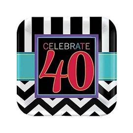 Plates-BEV-40th Celebration-8pk-Paper - Discontinued