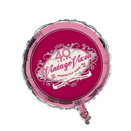 "Foil Balloon - Vintage Vixen Age 40 - 18"""