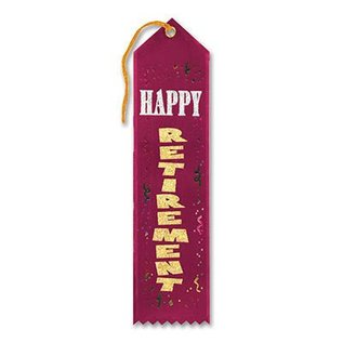 Award Ribbon-Happy Retirement-1pkg-8""