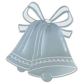 "Cutout-Silver Wedding Bells Silhouette-1pkg-16.5"""