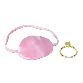 Eyepatch with Earring-Pink Pirate-1pkg