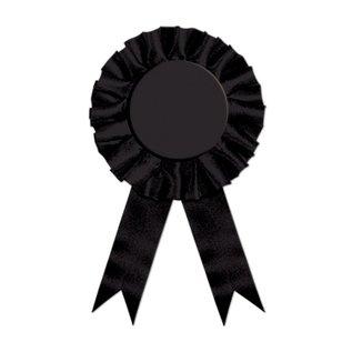 """Award Ribbon-Plain Black-1pkg-6.5"""""""
