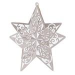 """Cutout-3D-Silver Glittered Star-1pkg-12"""""""