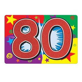 "Cutout-Glitter-80th Celebration-1pkg-10""x15"""