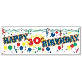 Banner- 30th bday-5ft x 21''