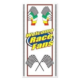 Door Cover-Plastic-Welcome Race Fans-1pkg-5ft