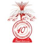 "Centerpiece-Foil Cascade-Red 40th Anniversary-1pkg-13"""