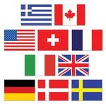 "Cutouts-Mini International Flags-10pkg-4.5"""