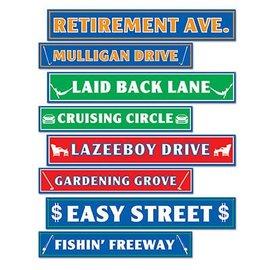 "Cutouts-Retirement Street Signs-4pkg-24"""