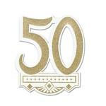 """Cutout-Glitter-Golden 50th Anniversary Crest-1pkg-14"""""""