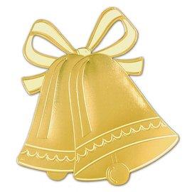 """Cutout-Gold Wedding Bells Silhouette-1pkg-16.5"""""""