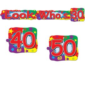 "Streamer-Customizable-Look Who's 30,40,50-1pkg-30"""
