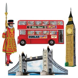 "Cutouts-British Destinations-4pkg-19""-26"""