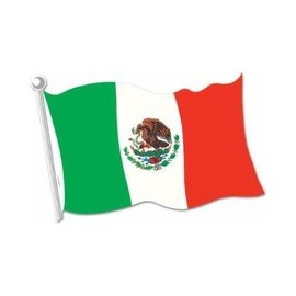 "Cutout-Mexican Flag-1pkg-12.5""x18"""