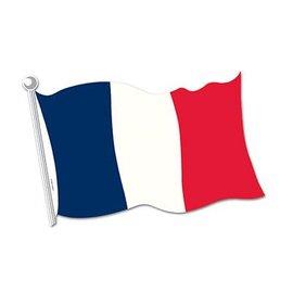 "Cutout-France Flag-1pkg-12.5""x18"""