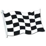 """Cutout-Race Car Flag-1pkg-12.5""""x18"""""""