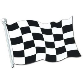 "Cutout-Race Car Flag-1pkg-12.5""x18"""