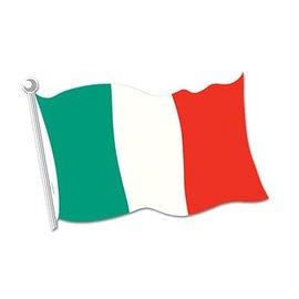 """Cutout-Italy Flag-1pkg-12.5""""x18"""""""