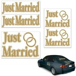"""Auto Clings-Assorted Just Married-5pkg-11""""-17"""""""
