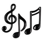 """Cutouts-Plastic-Musical Notes-3pkg-4.25""""-5.5"""""""