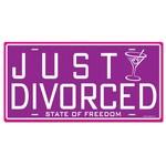 "Cutout-Just Divorced License Plate-1pkg-12"""