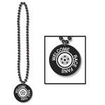 """Necklace-Welcome Race Fans Medallion-1pkg-33"""""""