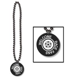 Necklace-Welcome Race Fans Medallion-1pkg-33""