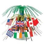 """Centerpiece-Mini Cascade-International Flags-1pkg-7.5"""""""