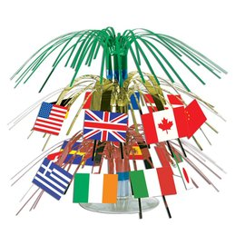 Centerpiece-Mini Cascade-International Flags-1pkg-7.5""