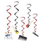 """Danglers-Foil Swirl-Musical Instruments-5pkg-33""""-39"""""""