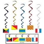 Danglers-Foil Swirl-Nautical Flags-5pkg-3.4ft