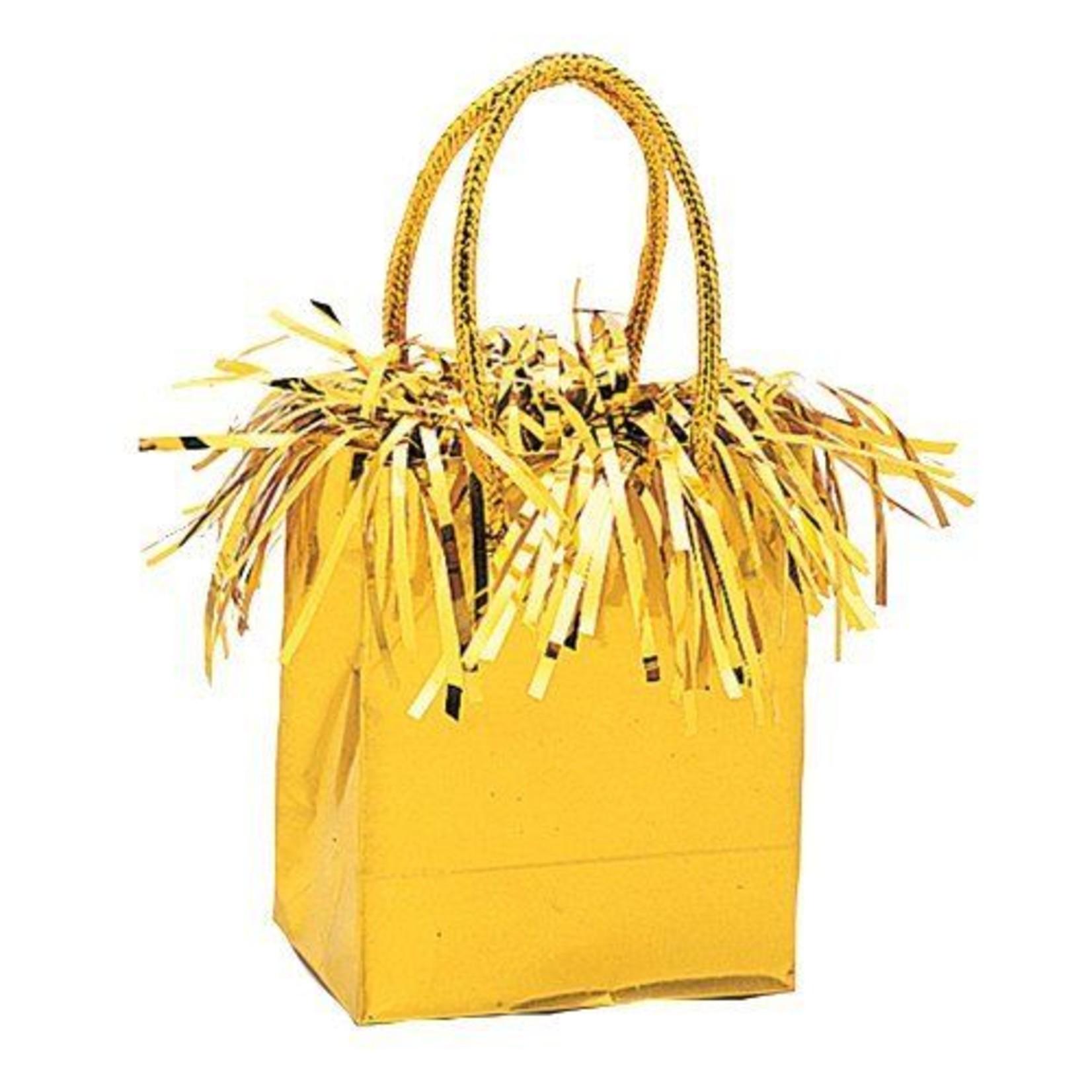 """Balloon Bag Weight-Gold-1pkg-3""""x2.5"""""""