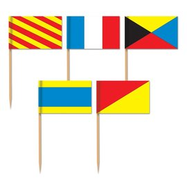 "Flag Picks-Nautical Flags-50pkg-2.5"""