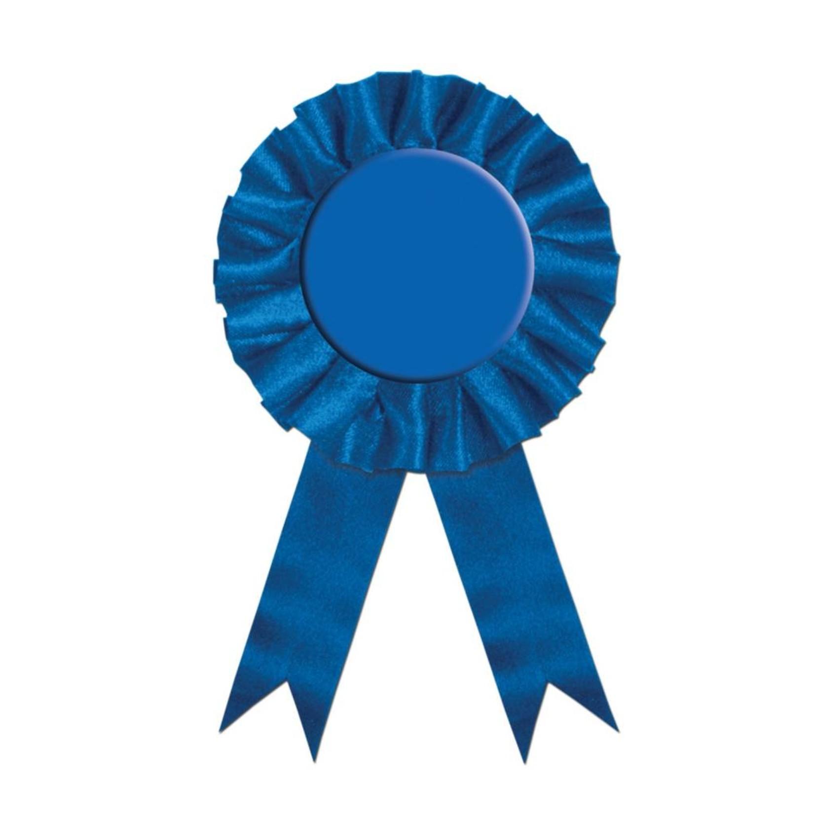 """Award Ribbon-Plain Blue-1pkg-6.5"""""""