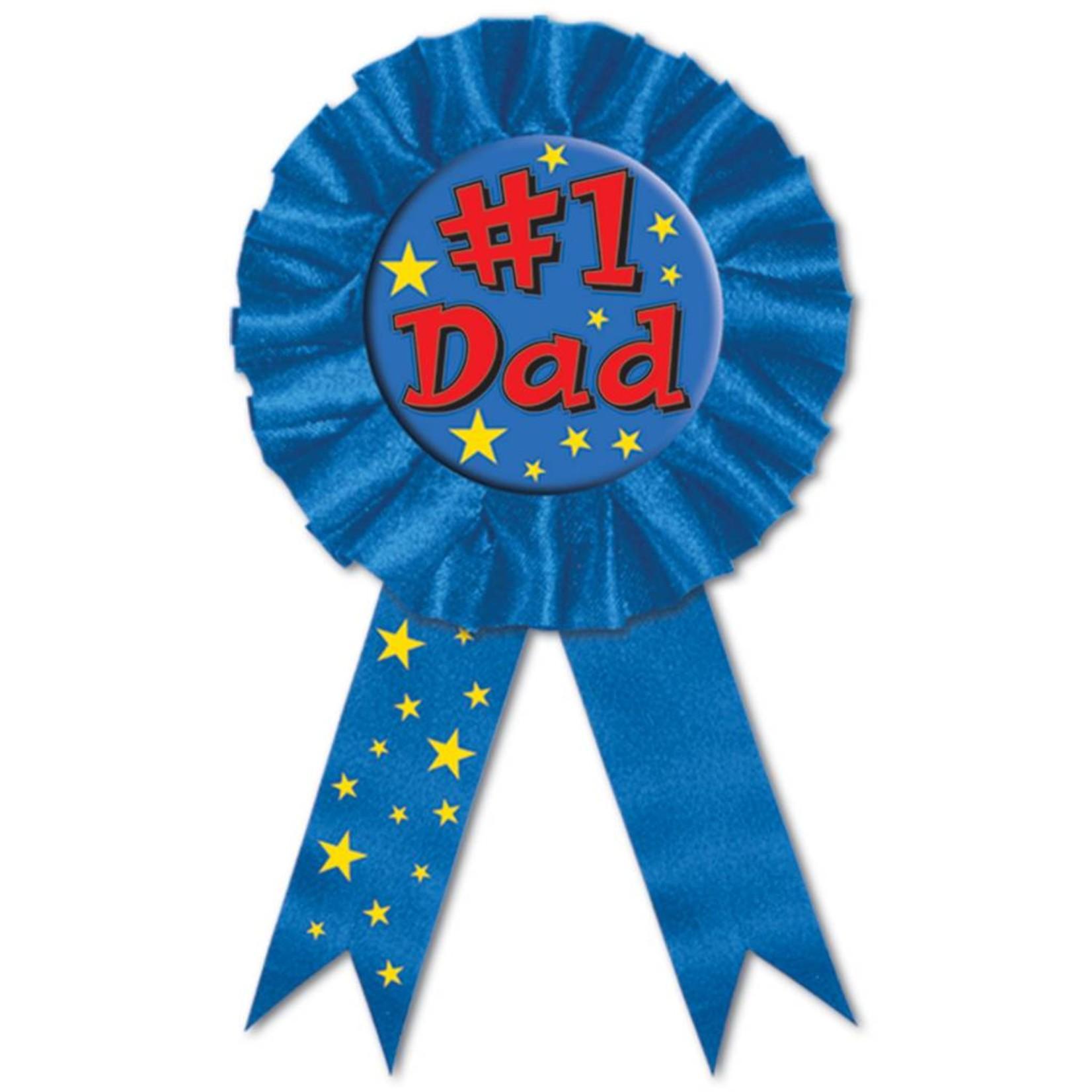 "Award Ribbon-#1 Dad-1pkg-6.5"""