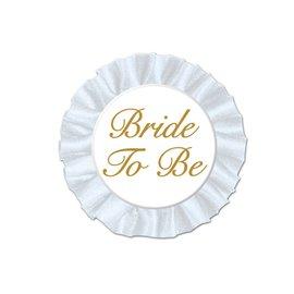 """Award Button - Bride To Be-1pkg-3.5"""""""
