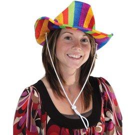 Costume Accessory-Rainbow Cowboy Hat-1pkg